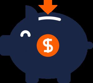 Geringere Kosten