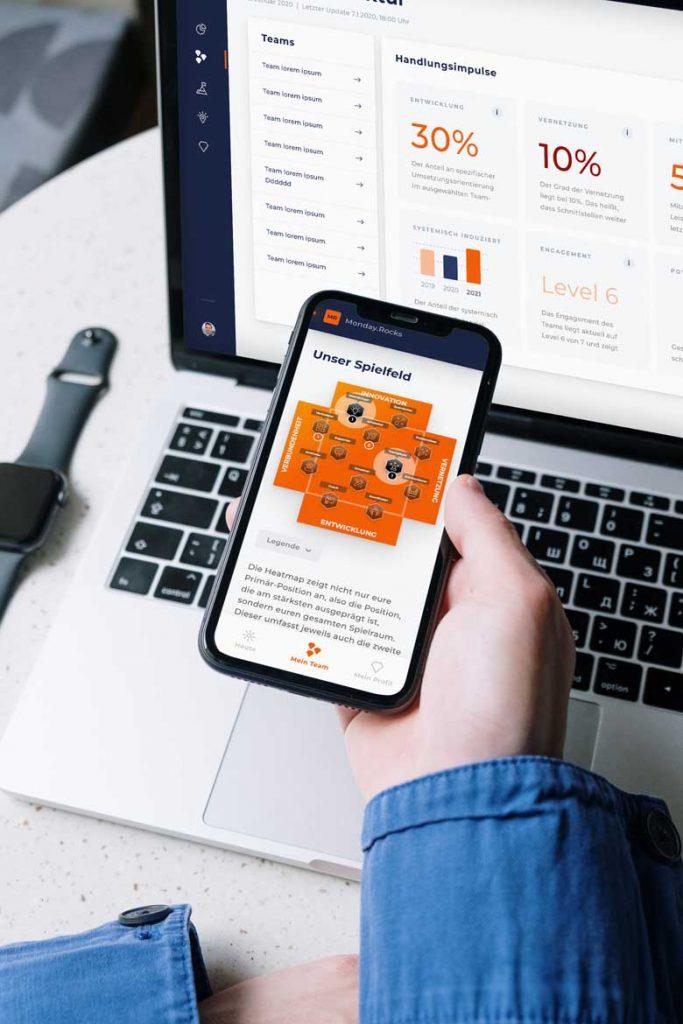 Teamentwicklungs Software Mobil und Desktop